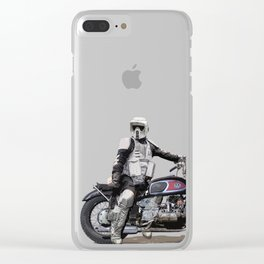 Looking for the drones, Scout Trooper Motorbike Clear iPhone Case