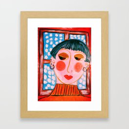 """Mira Didn't Think She Was Up To Christmas This Year"" Framed Art Print"
