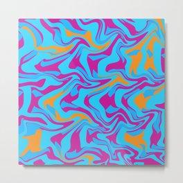 Liquid pattern Metal Print