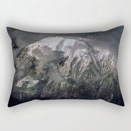 Clouds surrounding the mountain Rectangular Pillow
