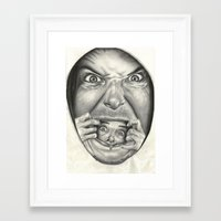fear Framed Art Prints featuring Fear by Magdalena Almero
