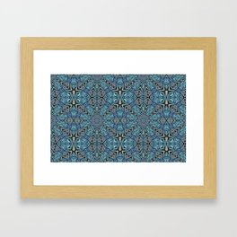 Blue Flower Pattern Framed Art Print