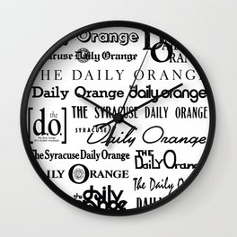 Daily Orange Flag Print Wall Clock
