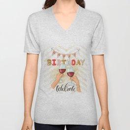 Happy Birthday Selebrate Unisex V-Neck