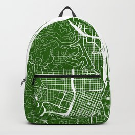 Green City Street Map of Portland, Oregon Backpack