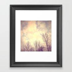 Her Bare Branches Waited for Spring Framed Art Print