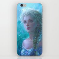 frozen elsa iPhone & iPod Skins featuring Frozen Elsa by hart-coco