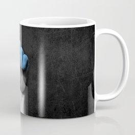 Estonian Flag on a Raised Clenched Fist Coffee Mug