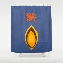 de Flower [blue] Shower Curtain
