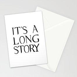 It's A Long Story Stationery Cards