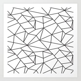 Geometrical modern black abstract wondrous pattern Art Print