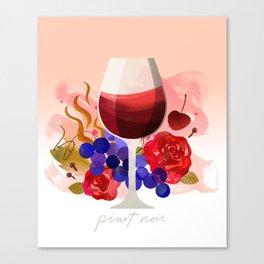 Wine Notes – Pinot Noir Canvas Print