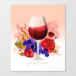 Wine Notes – Pinot Noir Canvas Print