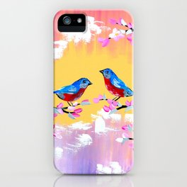Sunset and Cherry Blossom iPhone Case