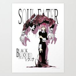 Black Blooded / White Art Print