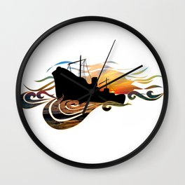The Intimate Stranger (Greek Ship) Wall Clock