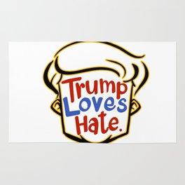 trump love hate shirt Rug