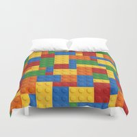 wwe Duvet Covers featuring Lego bricks by eARTh