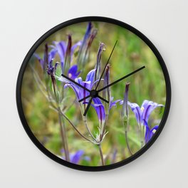 Prarie Flowers Wall Clock