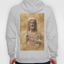 Vintage Drawing of Jesus Christ - Religious Hoody