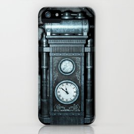 Silver Steampunk Generator Machine iPhone Case
