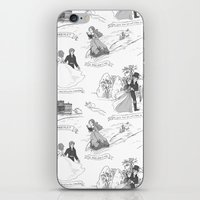 pride and prejudice iPhone & iPod Skins featuring Pride and Prejudice Toile by Aimee Steinberger