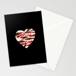 BeautyIsAReligion `ZEBRA HEART` Stationery Cards
