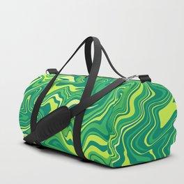 Green Nature Liquid Agate Duffle Bag