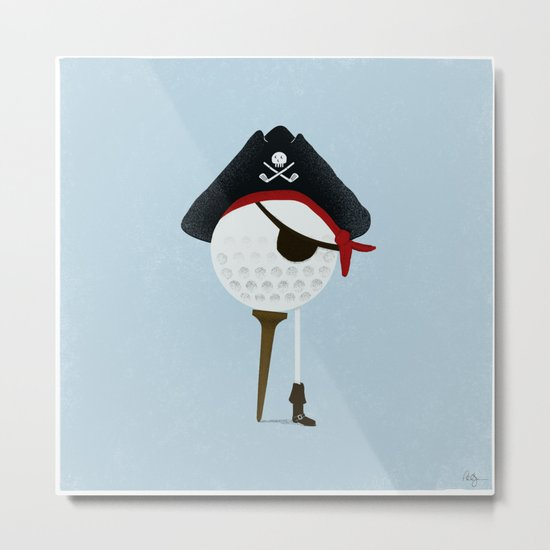 Pirate of the Open Tees Metal Print