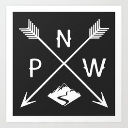 Pacific North West, Seattle Washington Art Print