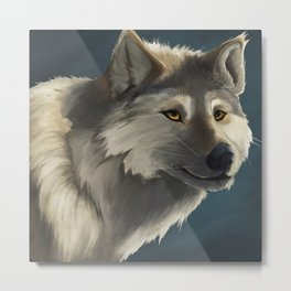Grey Wolf in the Morning Metal Print