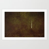 seoul Art Prints featuring Seoul Tower by Victoria Dawn Burgamy