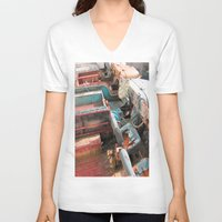 jeep V-neck T-shirts featuring Jeep by Mario Sa