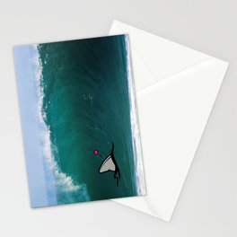 Shark-Filled Heart Stationery Cards