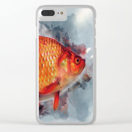 Goldfish Fancy Clear iPhone Case