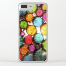 Abstract Droplets Clear iPhone Case