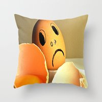 eggs Throw Pillows featuring eggs by  Agostino Lo Coco