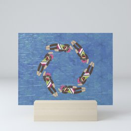 Sock Monkey Water Ballet Mini Art Print