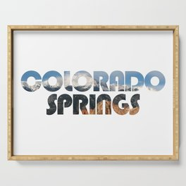 COLORADO SPRINGS and Pikes Peak Serving Tray