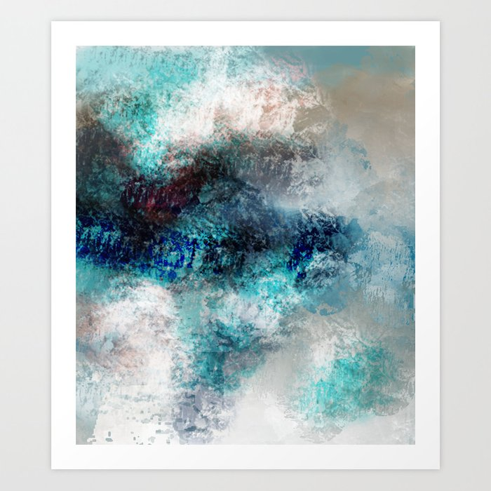 Ocean Spray in Abstract Art Print by jessielee72 | Society6