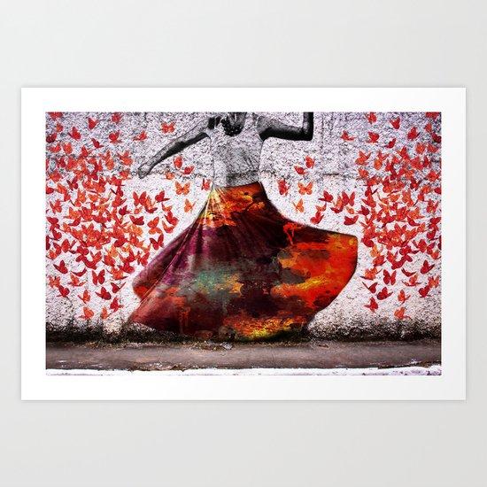 Flying Skirt Art Print