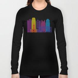Kansas City skyline pop Long Sleeve T-shirt
