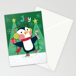 Joy - Penguin Christmas Card Stationery Cards