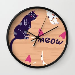Cats hanging Out Design for Cat Fans Wall Clock