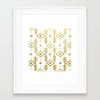 nordic Framed Art Prints featuring GOLD NORDIC by Nika