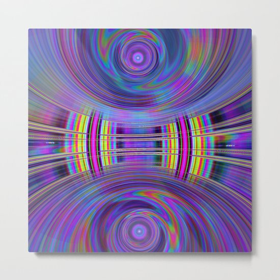 Dynamic fractal abstract in rainbow colors Metal Print