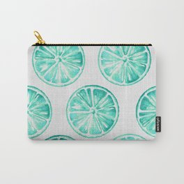 Turquoise Citrus Carry-All Pouch