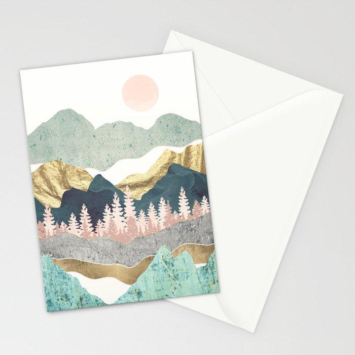 Summer Vista Stationery Cards