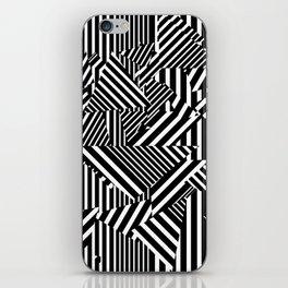 Dazzle Camo #01 - Black & White iPhone Skin