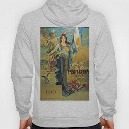 1910 Fernet Branca Liqueur Aperitif Advertisement Poster Print Hoody